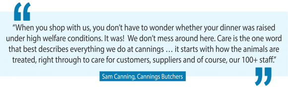 Ethical butcher, Sam Canning, used to be a vegetarian … Now he runs six fancy butcher shops in Melbourne's most affluent suburbs