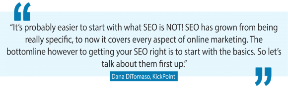 Best SEO tips for small business from Dana DiTomaso, one of the world's leading SEO experts
