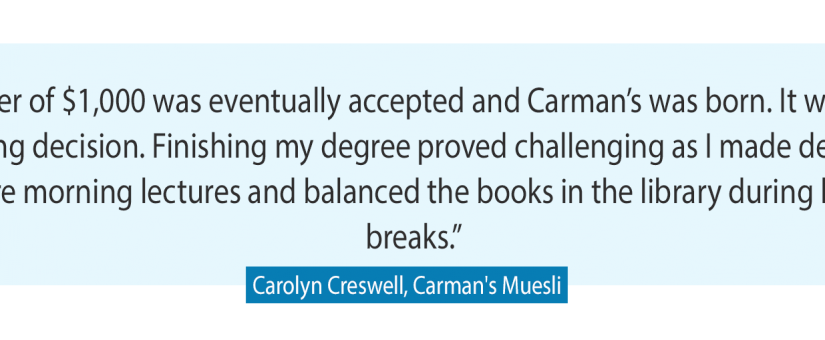 Carman's Muesli founder Carolyn Creswell strikes the right balance between work and play